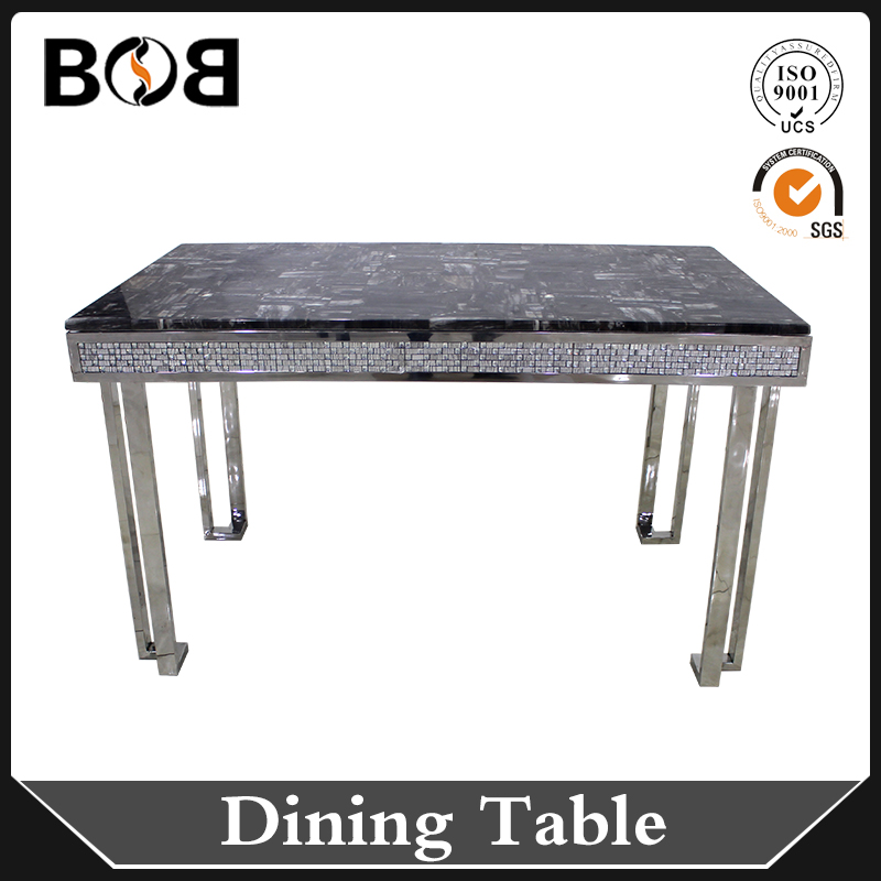 square cheap price marble paper mdf dining table