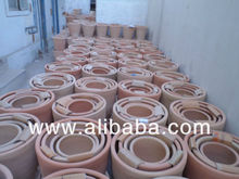 Terracotta clay pots and saucers - pottery and saucers - flower pots