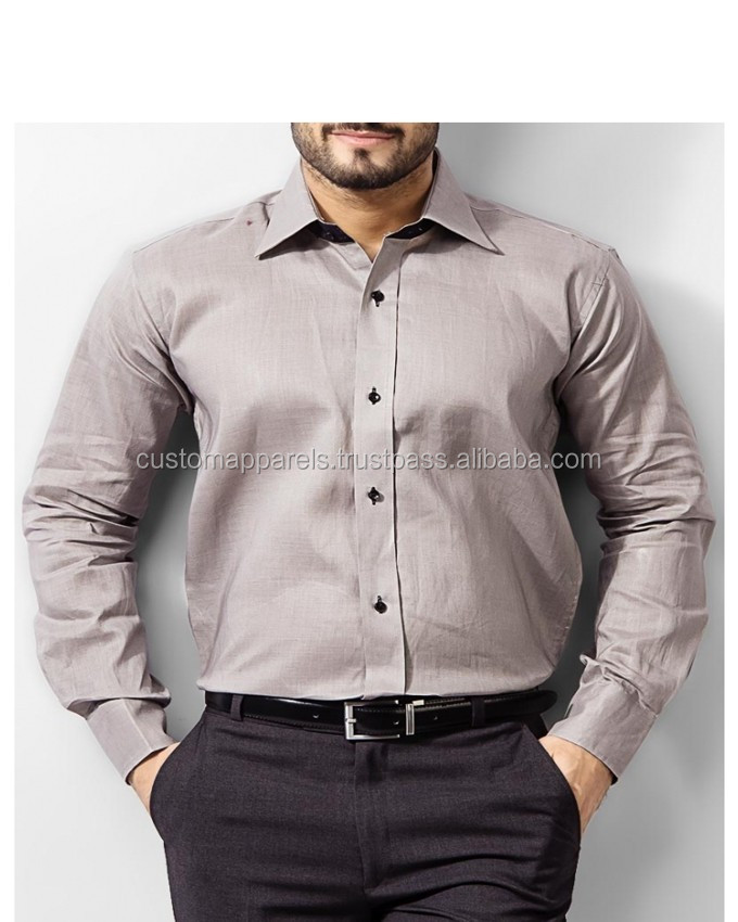 European style long sleeve latest brand design formal dress fashion cotton shirt men
