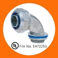 UL listed Angle Zinc Die Cast Liquid-tight Connector for