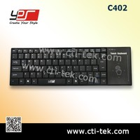 2.4GHz Wireless keyboard & Touch PAD (C402) Black