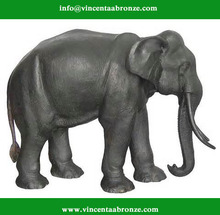 Craft bronze elephant for garden ornament
