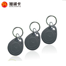 Free sample waterproof plastic ABS material 125 KHZ TK4100 RFID keychain / magnetic key fob for hotel apartment