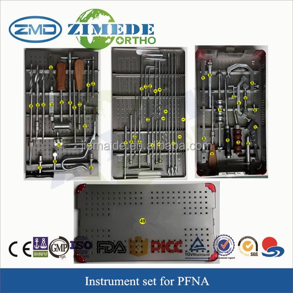 zimede medical instrument set for PFNA intramedullary nails