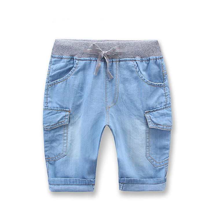 Baby denim shorts 2015 summer male children's child clothing child casual trousers