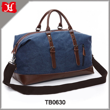 Men Druable Tote Duffle Bag Canvas With Leather Travel Bags