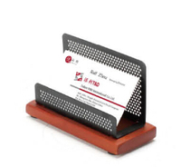 B83153 high quality back to school wood base business card holder