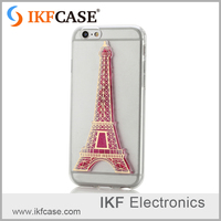 3D Eiffel Tower Glow In The Darkness Noctiluncent Luminous Flow Liquid Silicon TPU Phone Case For iPhone 4G 5G 5C