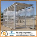 6'X12'X6'H round tube single dog run welded steel wire mesh kennels with roof shelter