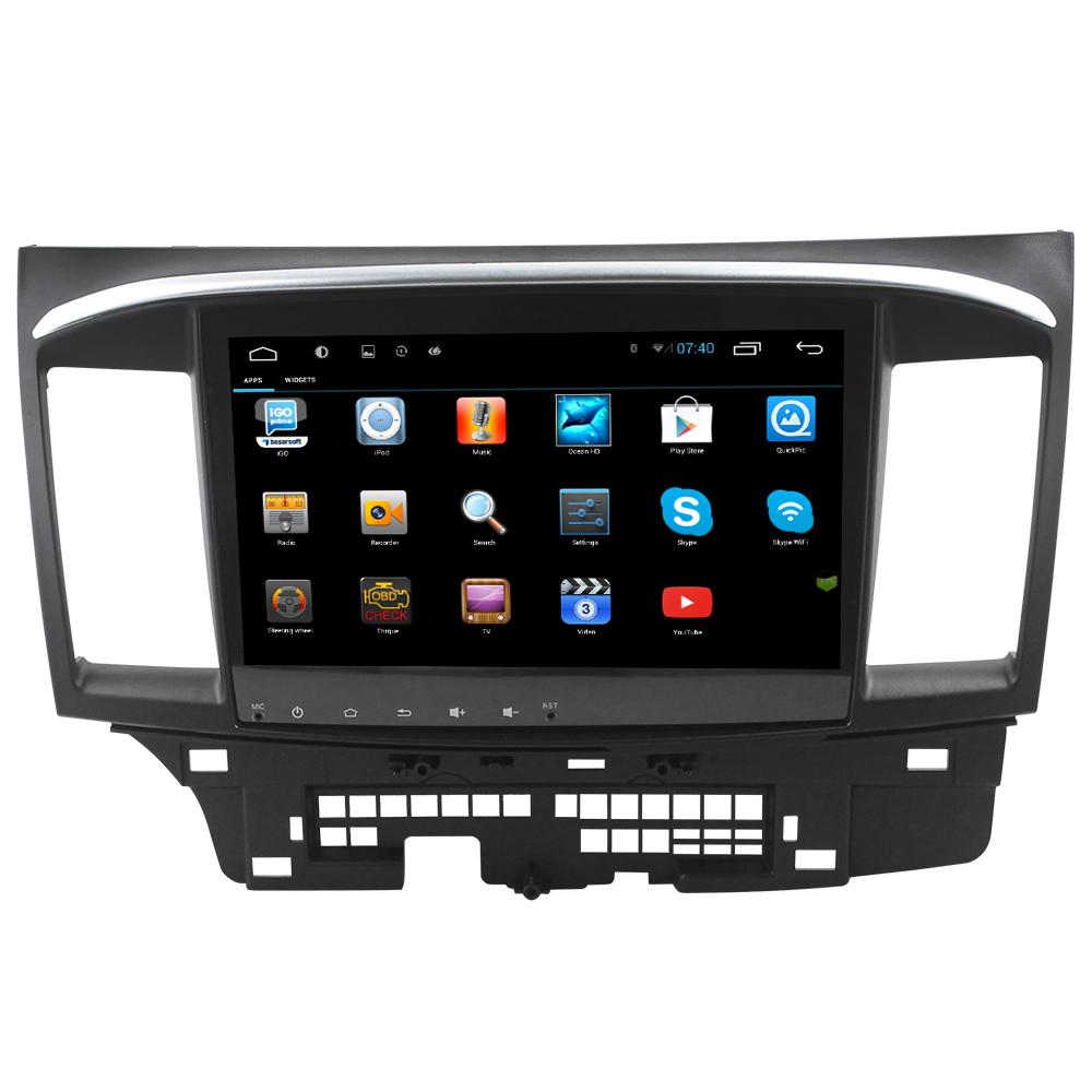 Big Screen Pure Android 4.4 Mitsubishi Lancer Car Dvd ...