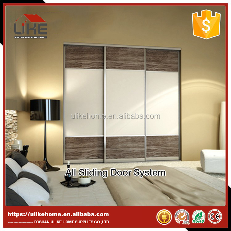 Aluminum framed wardrobe sliding door bedroom wardrobe sliding door