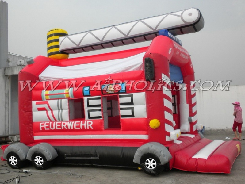 inflatable bouncer fire truck A1027