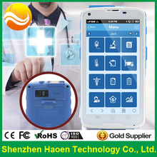 5 Inch White Rugged Handheld PDA Phones for Hospital USE with Corning Gorilla Glass rubbing alcohol housing 2D Barcode NFC Phone