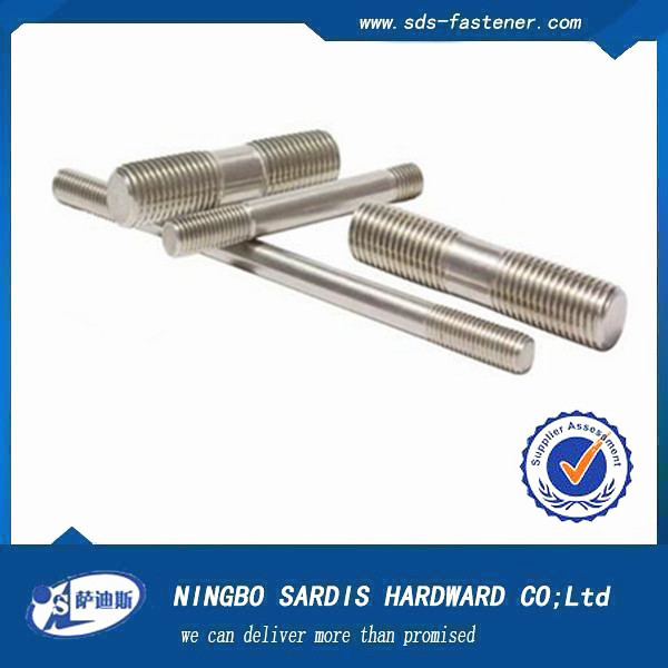 China Alibaba hardware supplier stud bolt astm shiner Stainless Steel thread rod