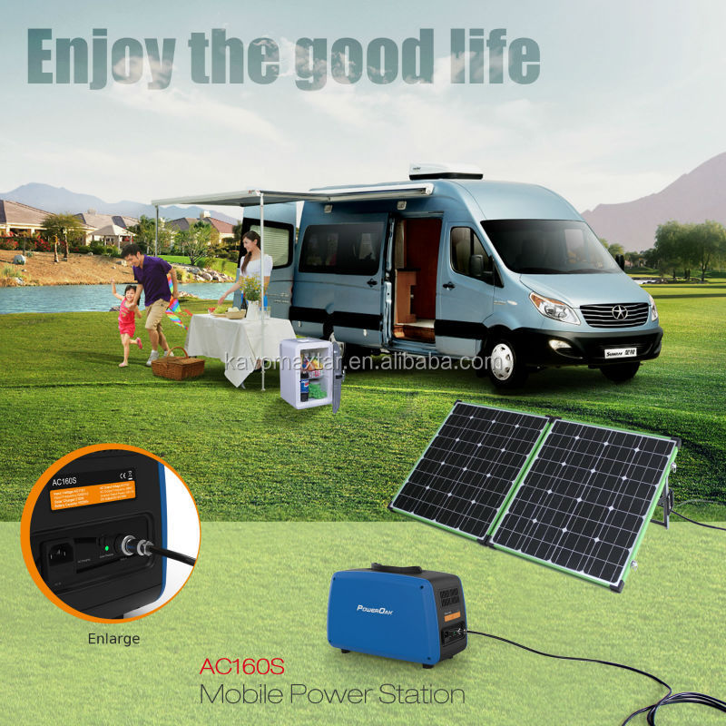 professional portable solar power system 700-1500Wh 500W multi-function portable solar power station