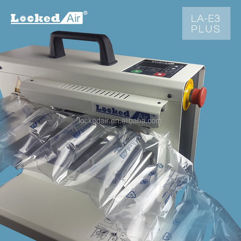 LA-E3 PLUS air pillow machine with HDPE carton film, void fill system, Top China packaging supplier