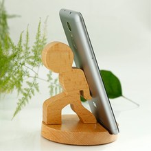 Hand Behind the Child Beech Wooden Mobile Phone Holder Handmade