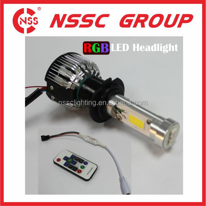 Auto vehicle light factory from china wholesale H7 H8 H9 car headlight RGB LED bulbs kit