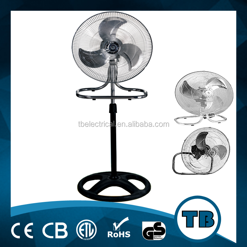 "powerful metal material 3 in 1 industrial stand fan type 18"" inch industrial fan with CE,CB"