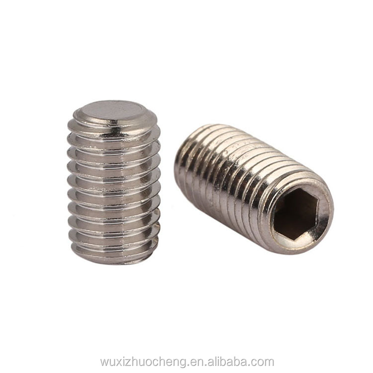 alibaba china supplier stainless steel DIN913 m4 set <strong>screw</strong>