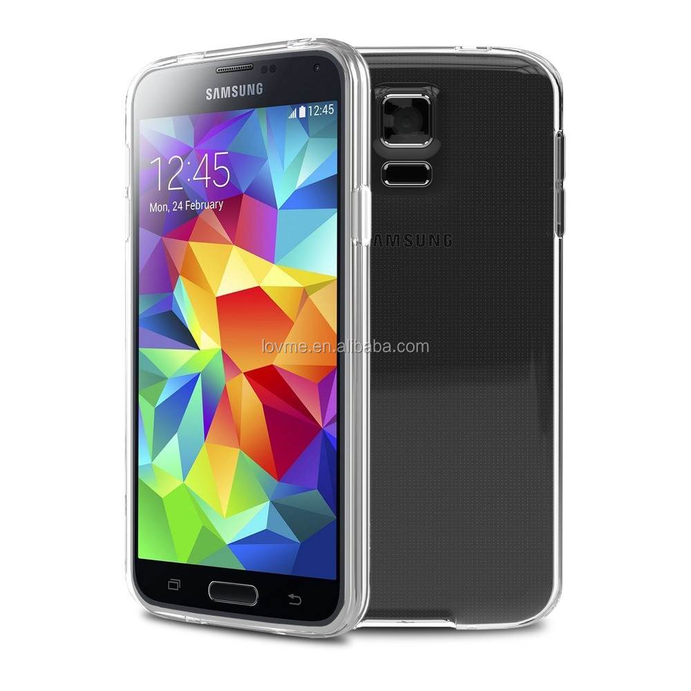 For Samsung Galaxy S5 Transparent Clear TPU Gel Cellphone Case Cover Skin