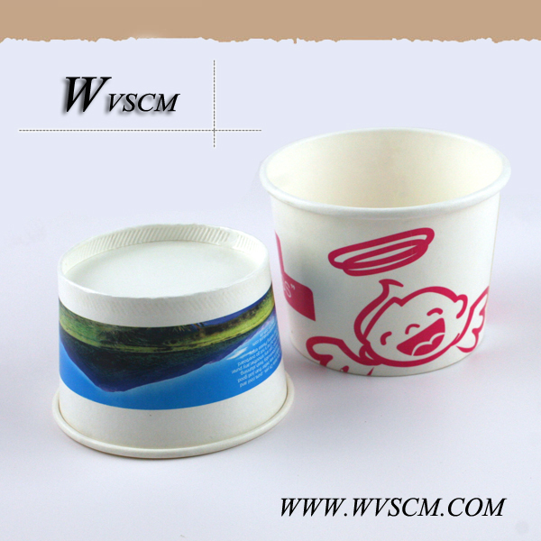 disposable biodegradable icecream coffee pla coating paper cup