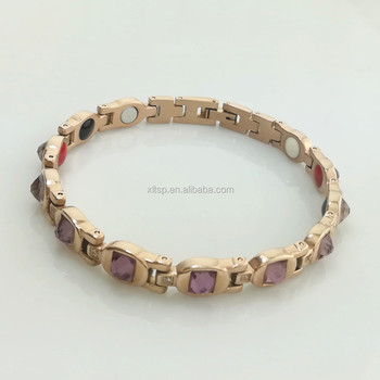 Women design germanium stainless steel health therapy bracelet