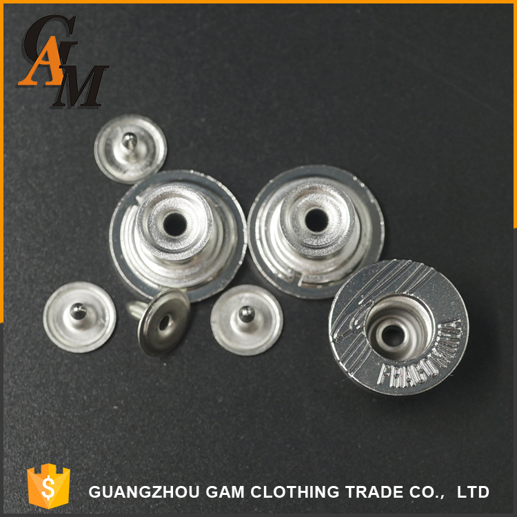 2016 OEM clothing accessories shank metal demin jean buttons for garments