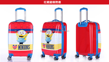 pc printed children school trolley bags with 4 wheels and lock