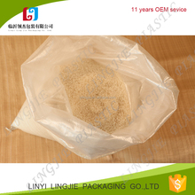 virgin polypropylene pp woven rice,flour,starch white and transparent bag 25kg,50kg