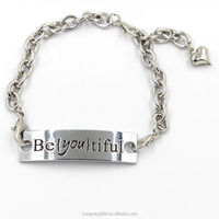 cool customized alloy metal chain link bracelet wholesale