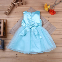 2015 new children dress princess western dance costumes with bowknot beautiful party dress