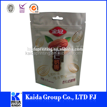 plastic stand up zipper bag with round bottom side gusset, good stiffness,