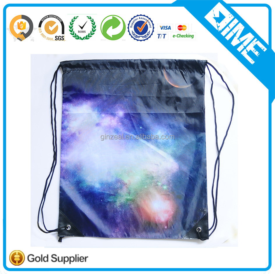 Rope Handle Style And Polyester Mesh Material Drawstring Sports Bag
