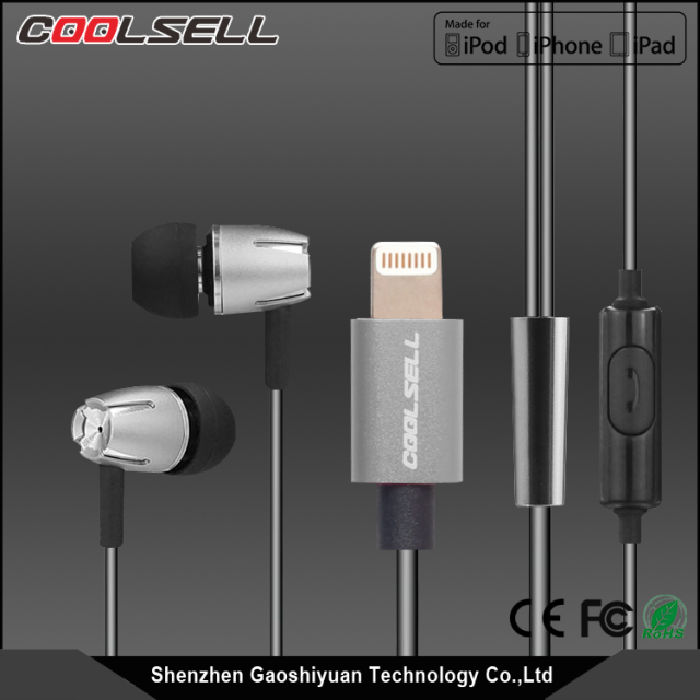 Good Performance Original MFI Headphone with Mic & Volume Control, Digital Earphone for Smartphone
