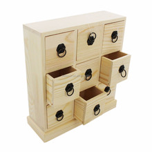 custom design wholesale small wooden drawer storage box