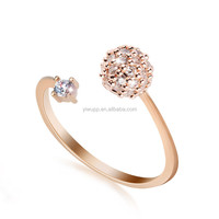 2015 new latest design fashion trendy jewelry women crystal diamond gold wedding ring for party girls 021