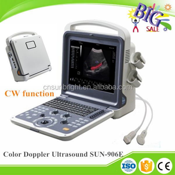 2D 3D CW ecografo portatil 4d color doppler ultrasound for cardiac SUN-906E