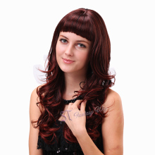 multi layered haircuts long curly hair great wigs synthetic fiber skin part wig