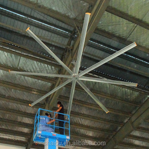 24FT hot sale large big wind low noise industrial ceiling fan factory