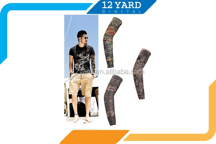 2016 fashion sport wear arm sleeve decorative art printed championships cool arm sleeve