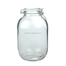 Hot sale 4000ML Thick Glass Jar Storage Container with Lid