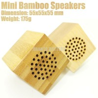 NEW Home Decoration Portable Small Mini Bamboo Wooden Audio Cube Speaker for Laptop PC Mobile Phones Made in China