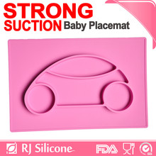 RJSILICONE silicon baby plate and placemat bowl mat food serving plate
