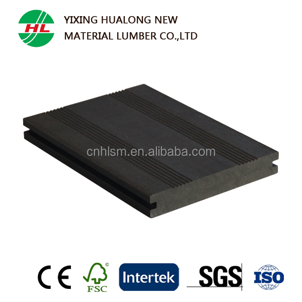 Anti-Slip Solid WPC Decking Wood Plastic Composite Outdoor Flooring for Swimming Pool or Garden