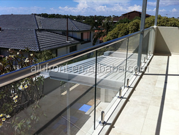 commercial design aluminum glass staircase rails with high quality