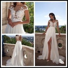 Sashes Button Court Train Sheath Luxury Wedding Dress