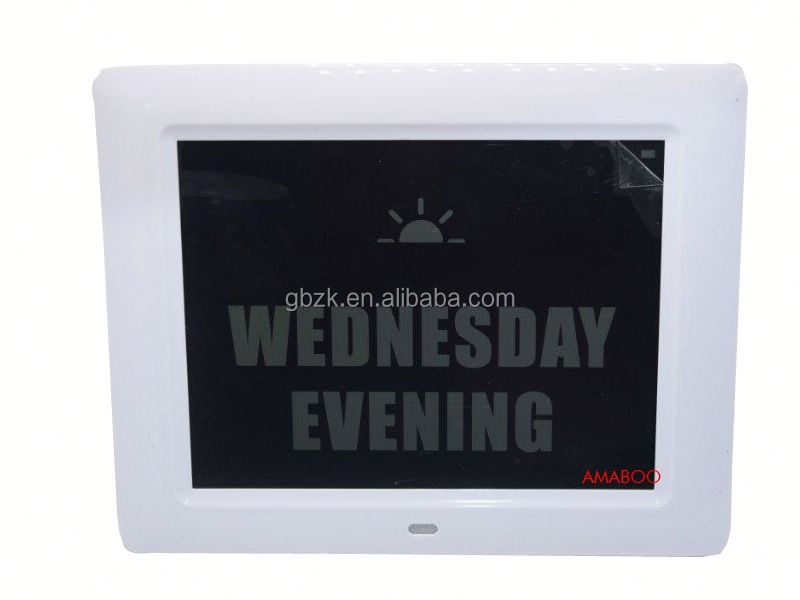 8 inch large digital photo frame calendar countdown clock infuse lift system lcd display screen