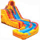 Commercial inflatable Fire N Ice Water Slide for sale