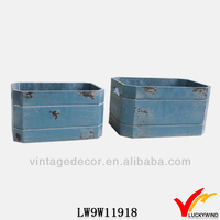 Crate s/3 aged antique hot sales rice planter